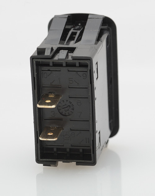 carling, rocker switch, l series, momentary on off, single pole, spade terminals, no lamp L12D1S001