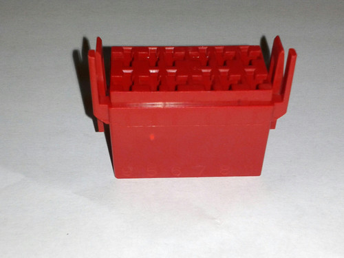 LC1-03 Carling L Series terminal housing connector, red