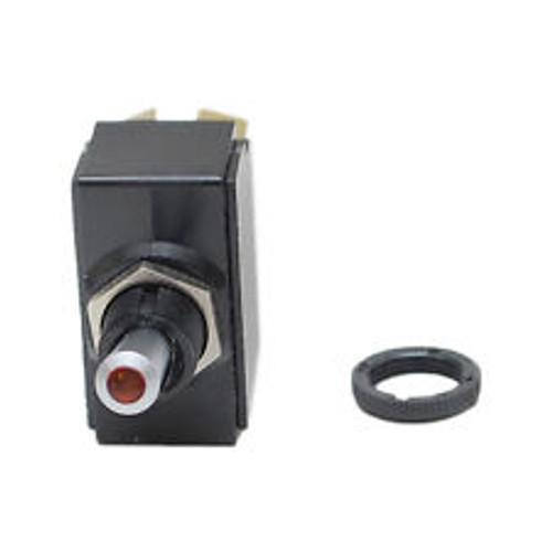 Carling Lit Tip Toggle LT-1514-510-012, Red, 12 volt, screw terminals