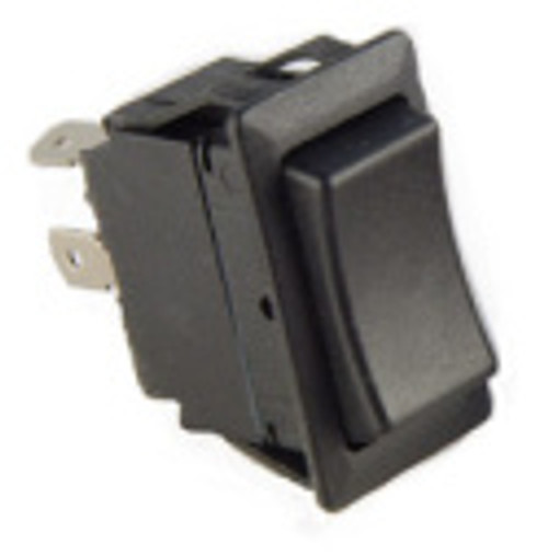 standard rocker, single pole, on-off, maintained, quick connect terminals