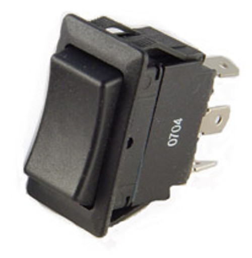 full size rocker switch, on on, double pole, quick connects