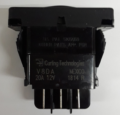 V8DAS001-6ZZXX-1XX-XPC1 Contura XI double momentary rocker switch, Open Close Imprinted On Actuator