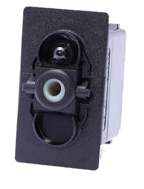 Carling V Series rocker switch single pole,  Circuit 1 & 2 ON, Circuit 1 ON-OFF,  1 dep. lamp, VGD2B60B