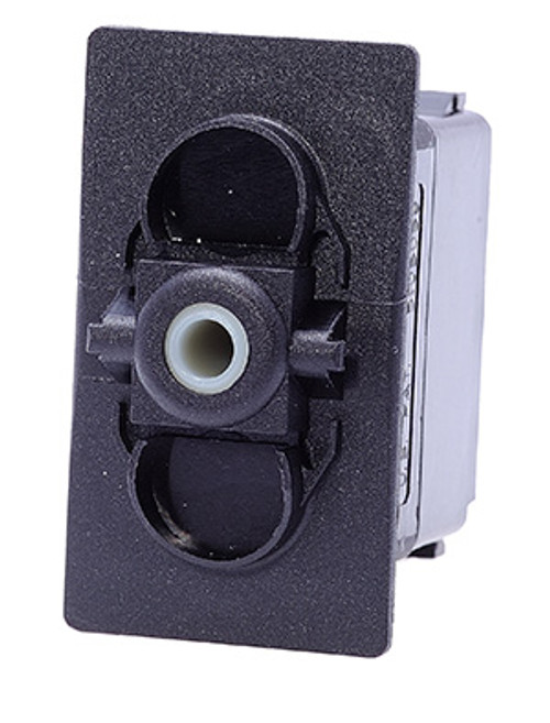 Carling V series rocker switch, double pole, on -off- on maintained, no. lamps, VJD2S00B