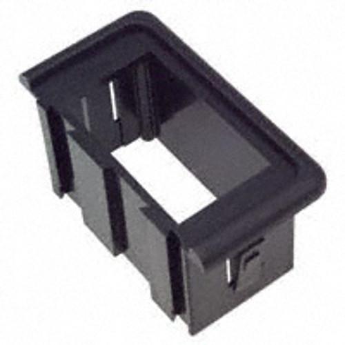 VME-01 V Series Rocker Switch Gangable Black Mounting Panel, End