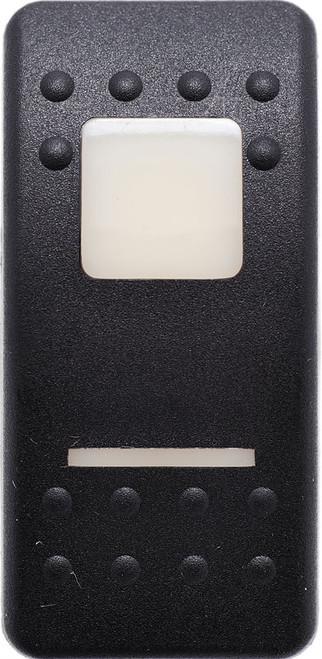 carling, v series, switch cap, actuator, contura II, VVAAB00-000, soft black, 1 white bar lens, 1 white square lens
