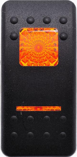 Carling, Contura 2, Hard Black, Actuator, 1 amber bar lens, 1 amber square lens, VVAFC00-000