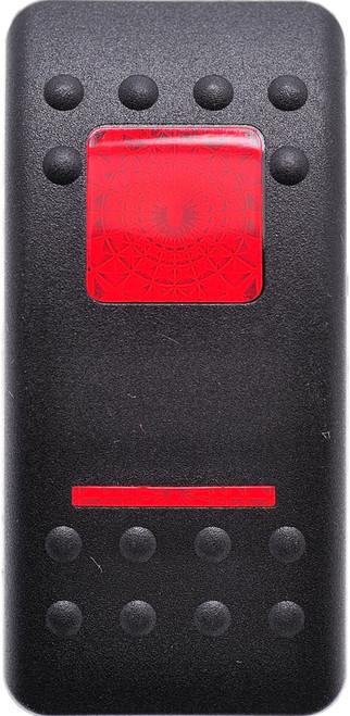 VVASC00-000 Carling Contura 2 Hard Black Actuator, 1 red bar lens, 1 red square lens