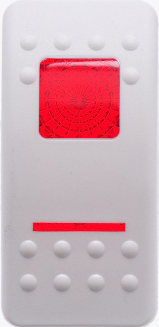 VVASY00-000, Carling, Contura 2, Hard White, Actuator, 1 red bar lens, 1 red square lens