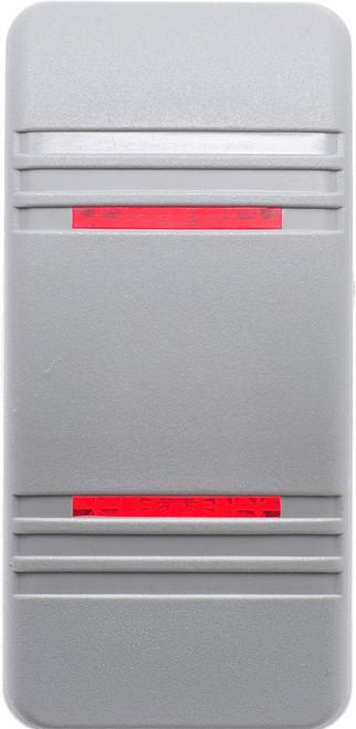 carling, v series, switch cap, actuator, hard gray, 2 red bar lens, VVCNH00-000