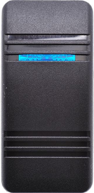 Carling, Contura 3, Hard Black, Actuator, 1 blue bar lens, switch cap, v series, VVCTC00-000