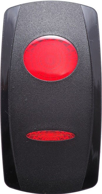 Carling V Series Rocker switch actuator, one red oval & one red bar lens, VVGRC00-000