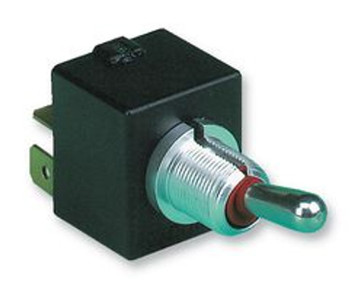 Otto Toggle, T7-212D5, DPDT (ON)-ON Toggle switch, quick connect low level terminals, sprint return to second On position