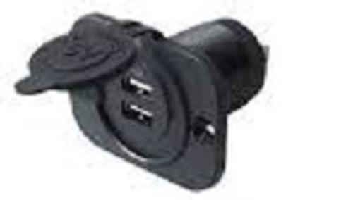 usb plug in, automotive, rv, marine, 2 place usb, phone charger, ipod, dual port, marine grade usb socket, as232