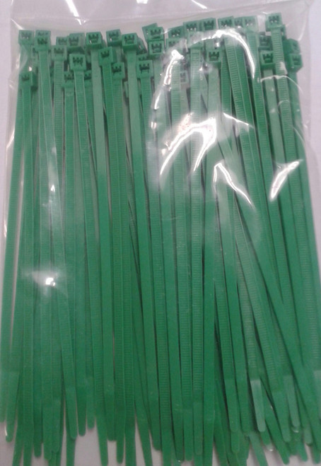 Standard Self Locking Green Nylon Cable Tie