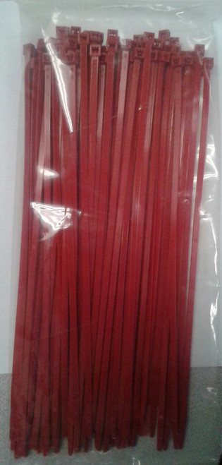 """Self Locking Standard 11.25"""" Red Nylon Cable Tie"""