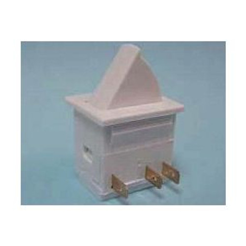 604-9036 Square Momentary White Push Button Door Switch