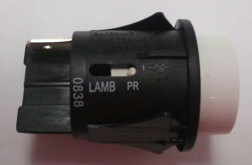 PR144C1200 E-Switch Push Button Off-Momentary On Switch, white button