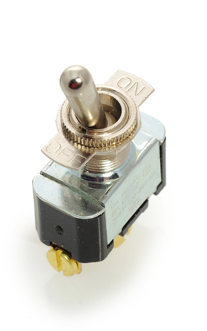 2FA54-73. Carling toggle switch, single pole, on off, screw terminals