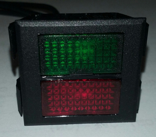 2650-1-50-45341 Square Multi Color Red/Green 125 Volt Neon Indicator Light