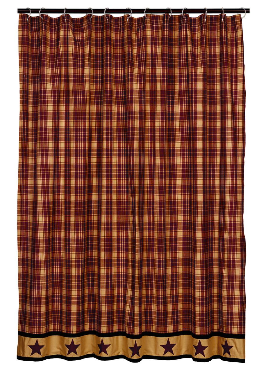 Heritage Star Wine Shower Curtain