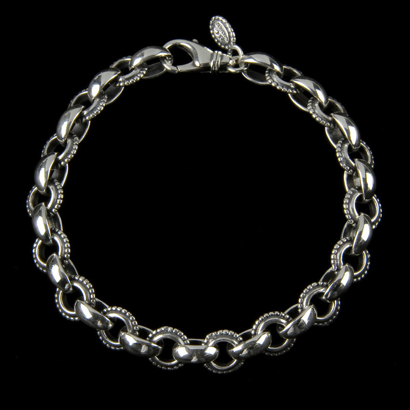 Athena Bracelet handmade in Sterling Silver links by Bowman Originals, Sarasota, 941-302-9594