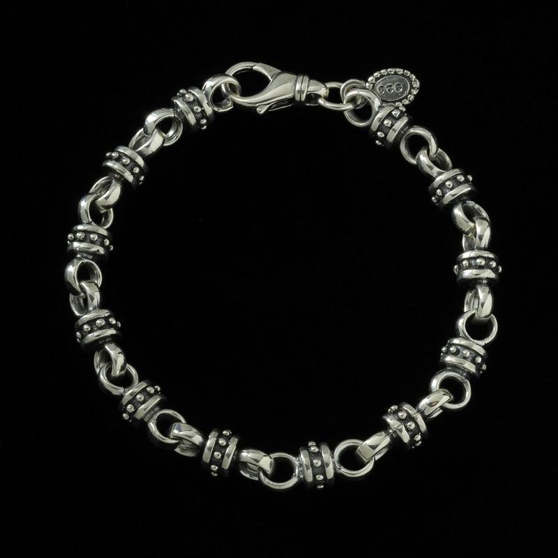 Alexander the Great Bracelet, Silver, handmade by Bowman Originals, Sarasota, 941-302-9594