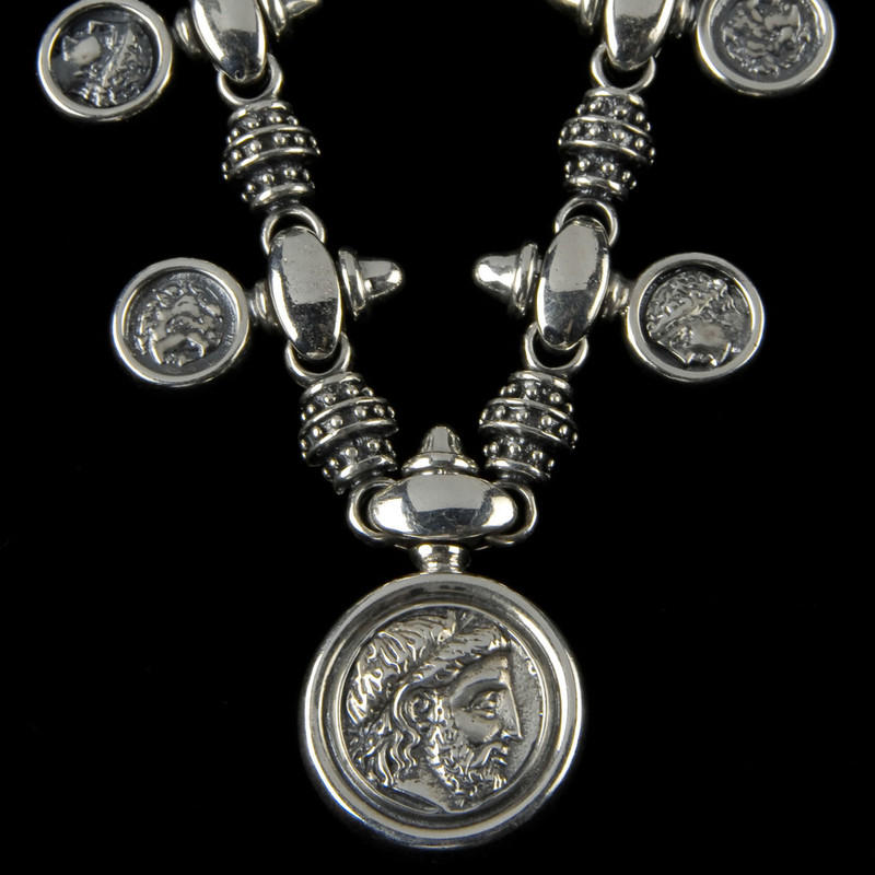 King Philip of Macedonia Family Necklace, Sterling Silver by Bowman Originals, Sarasota, 941-302-9594