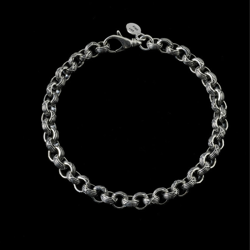Harvest Bracelet handmade and engraved Sterling Silver by Bowman Originals, Sarasota, 941-302-9594.
