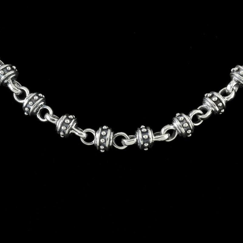 Alexander IV silver link chain by Bowman Originals, Sarasota, 941-302-9594
