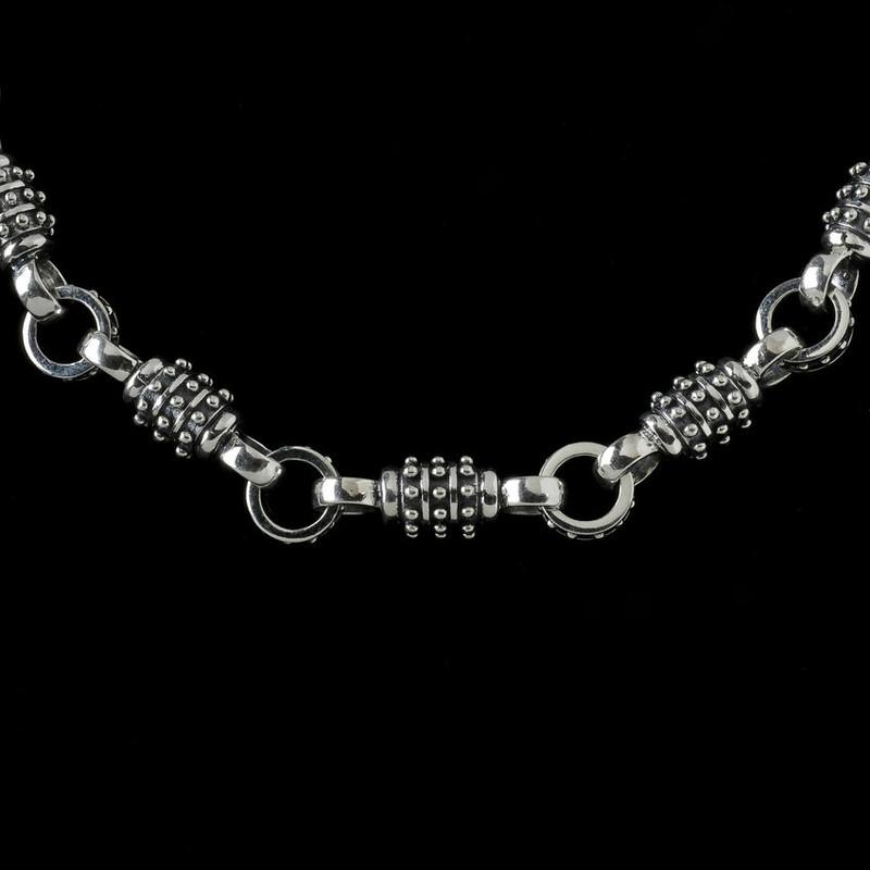 Thor Chain, silver links handmade by Bowman Originals, Sarasota, 941-302-9594