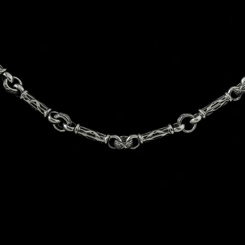 Harvest Bar Chain, silver engraved by Bowman Originals, Sarasota, 941-302-9594