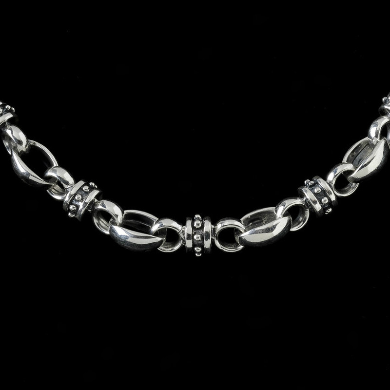 Lady Godiva Chain, silver by Bowman Originals Jewelry, Sarasota, 941-302-9594