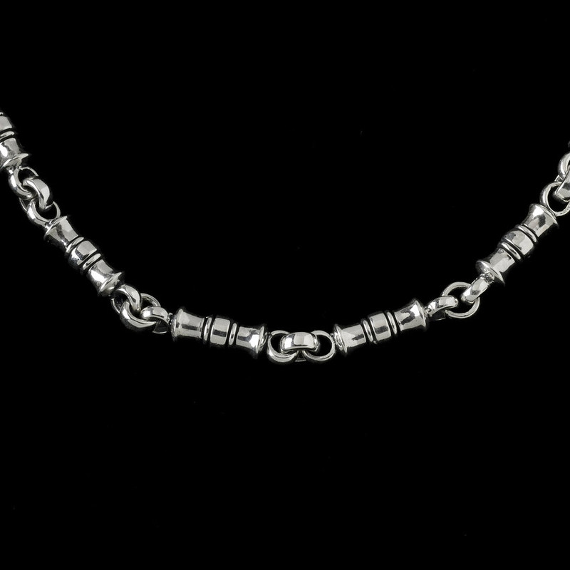 Greek Vase Chain, silver link by Bowman Originals Jewelry, Sarasota, 941-302-9594
