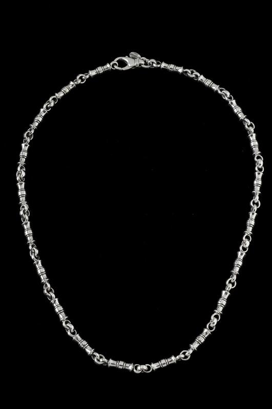 Greek Vase Chain, silver by Bowman Originals Jewelry, Sarasota, 941-302-9594