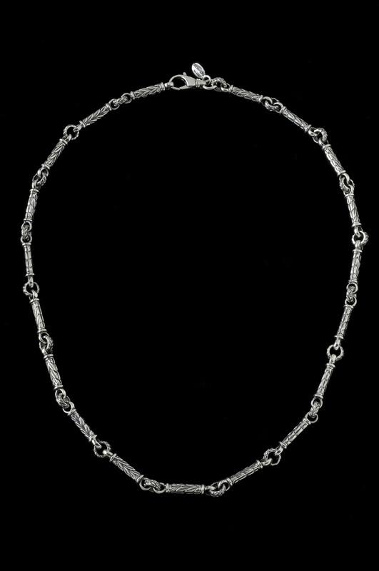 Leaf Bar Chain, silver links by Bowman Originals Jewelry, Sarasota, 941-302-9594.