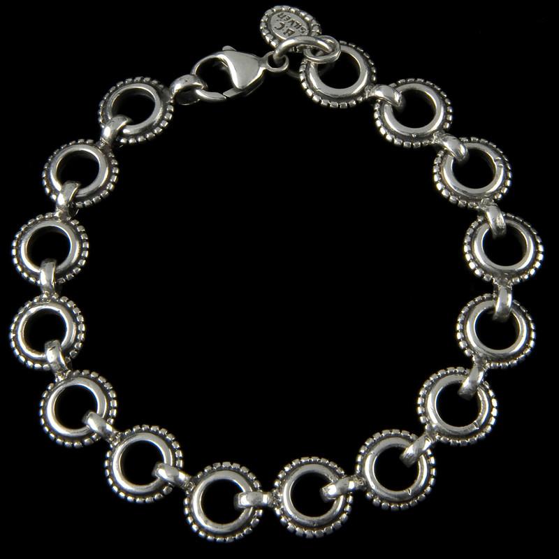 Rowann Bracelet, Sterling Silver, handmade by Bowman Originals, Sarasota, 941-302-9594