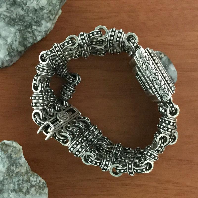 Handmade Silver and Silver Ore Bracelet   Bowman Originals