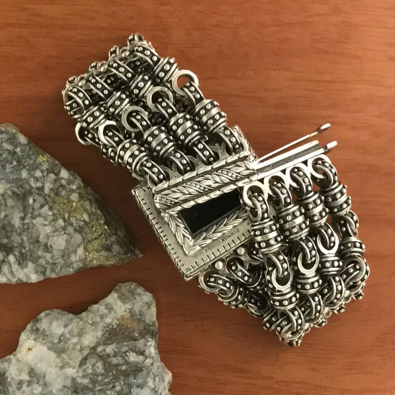 Silver clasp on handmade bracelet   Bowman Originals
