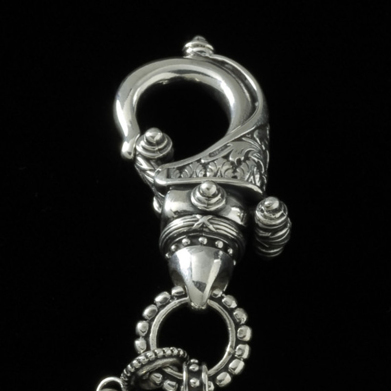 Key Chain hand engraved Silver hook by Bowman Originals, USA