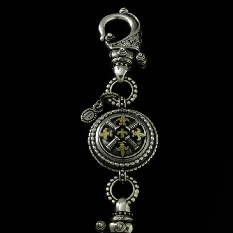 Key Chain engraved in Silver  and Gold handmade by Bowman Originals, USA
