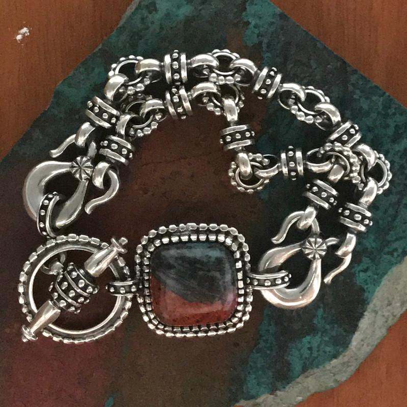 Sonora Chrysocolla, Silver bracelet by Bowman Originals
