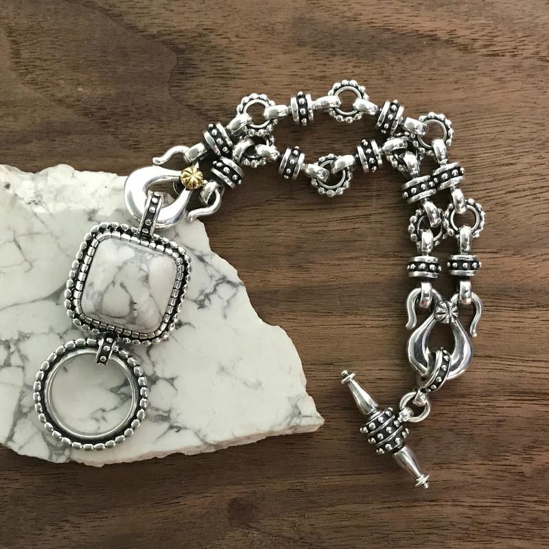 Handmade Sterling Silver, Howlite Bracelet |} Bowman Originals