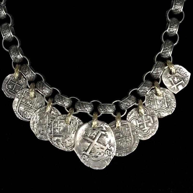 Handmade Sterling Silver and 18 k Gold Medallion Necklace by Bowman Originals, Sarasota, 941-302-9594.