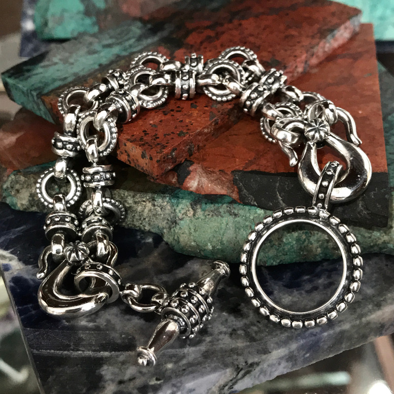 Classic Two Row Toggle Bracelet