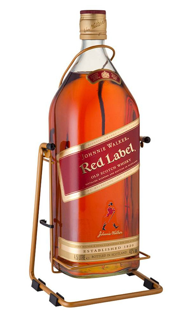 Johnnie Walker Red Label Scotch Whisky & Cradle 3 Litres