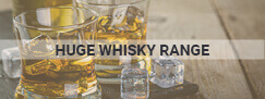 huge whisky range alcohol graphic