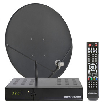 MOTORIZED FREE TO AIR KU BAND SATELLITE SYSTEM WITH DVR AND 90CM DISH