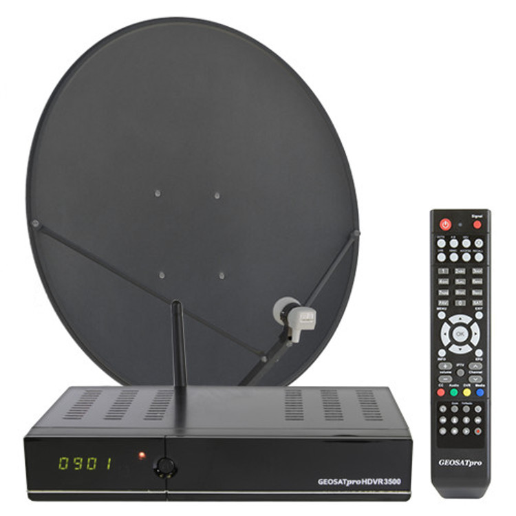 FREE TO AIR MOTORIZED KU BAND SATELLITE SYSTEM WITH DVR AND 90CM DISH