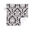 "Black Dandy Damask Mini Baby Blanket (12"" x 12"")"